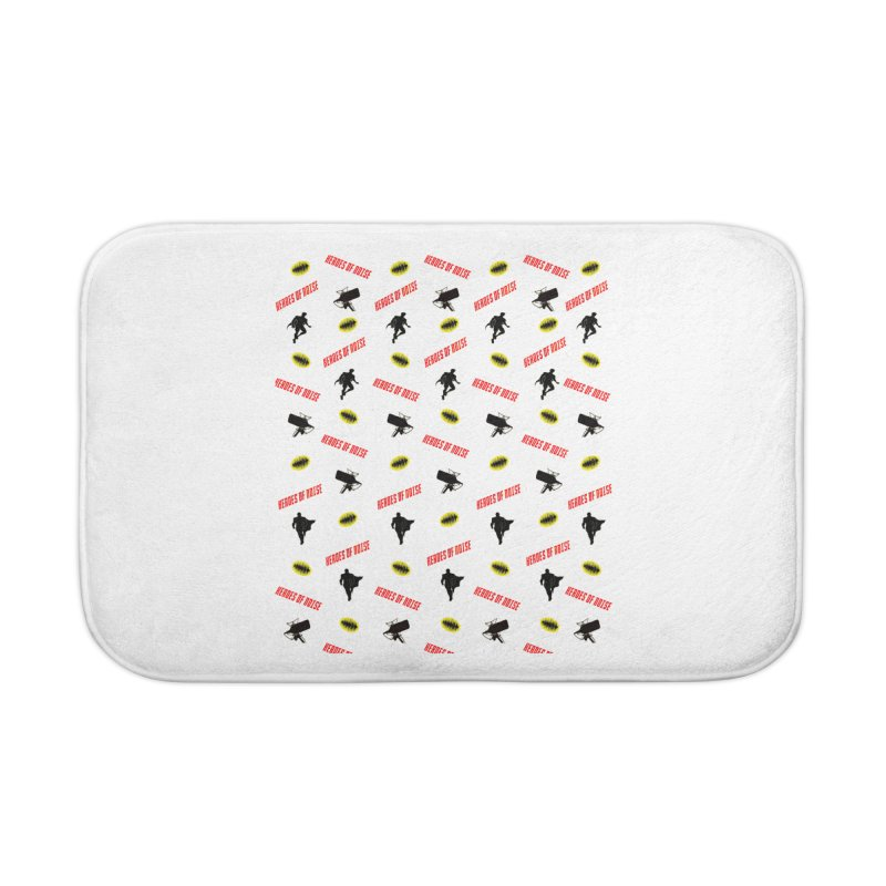 HON Collage Home Bath Mat by Heroes of Noise Artist Shop
