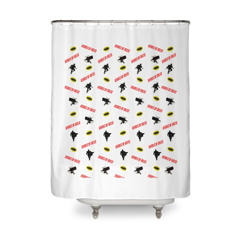 HON Collage Home Shower Curtain by Heroes of Noise Artist Shop