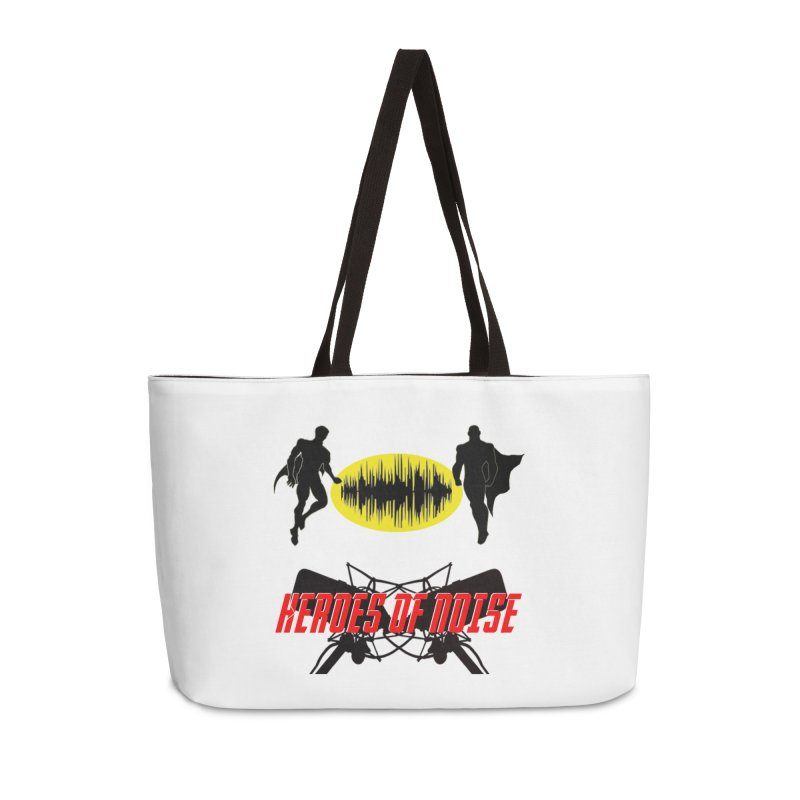 Heroes of Noise Podcast Logo Accessories Weekender Bag Bag by Heroes of Noise Artist Shop
