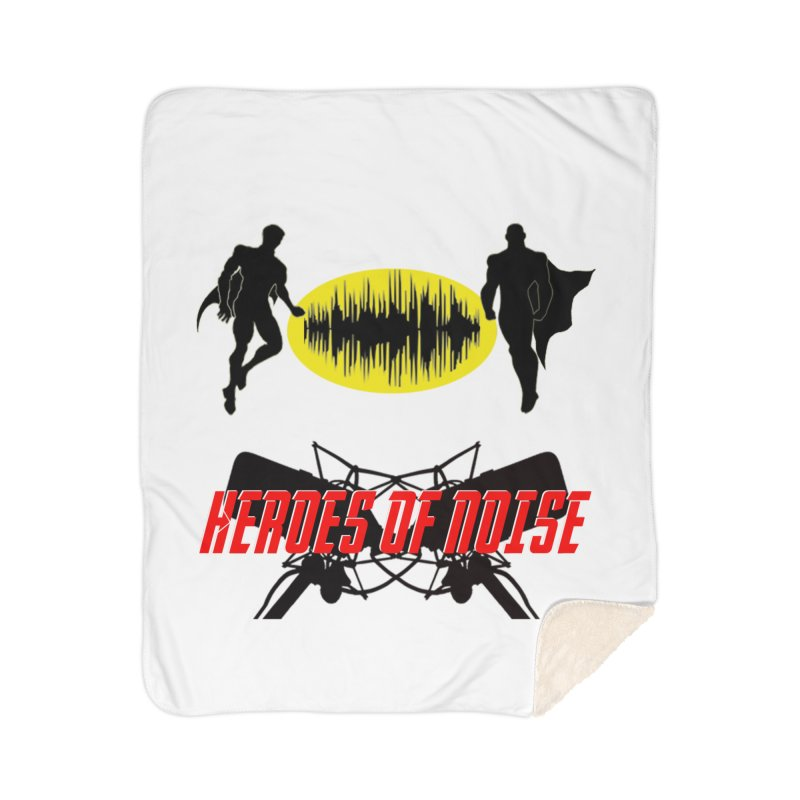 Heroes of Noise Podcast Logo Home Sherpa Blanket Blanket by Heroes of Noise Artist Shop