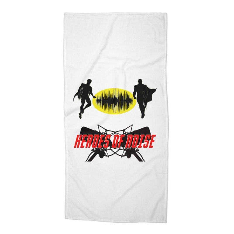 Heroes of Noise Podcast Logo Accessories Beach Towel by Heroes of Noise Artist Shop