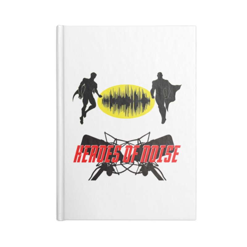 Heroes of Noise Podcast Logo Accessories Lined Journal Notebook by Heroes of Noise Artist Shop