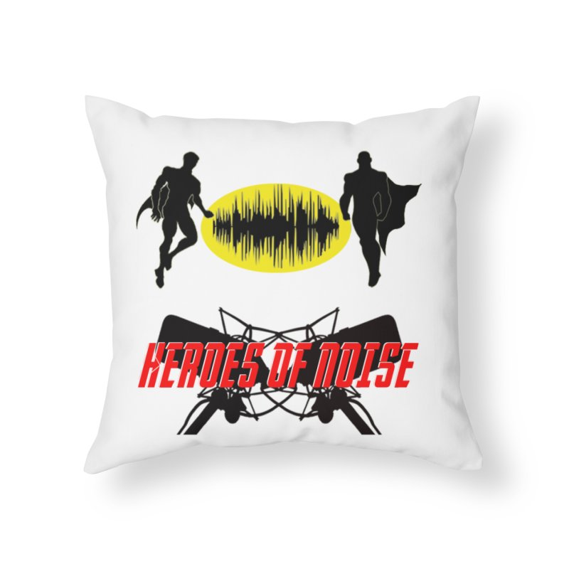 Heroes of Noise Podcast Logo Home Throw Pillow by Heroes of Noise Artist Shop