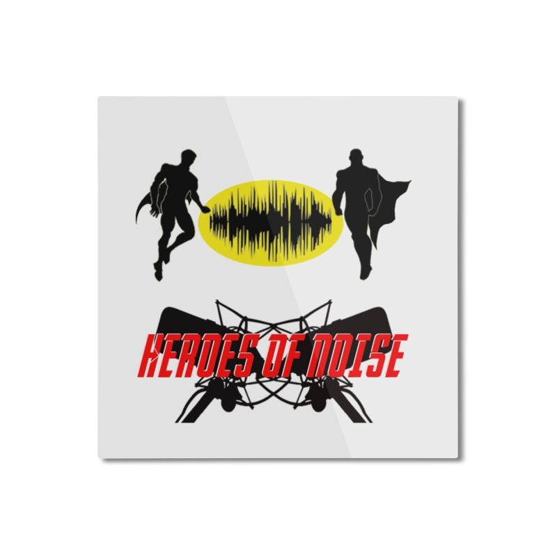 Heroes of Noise Podcast Logo Home Mounted Aluminum Print by Heroes of Noise Artist Shop