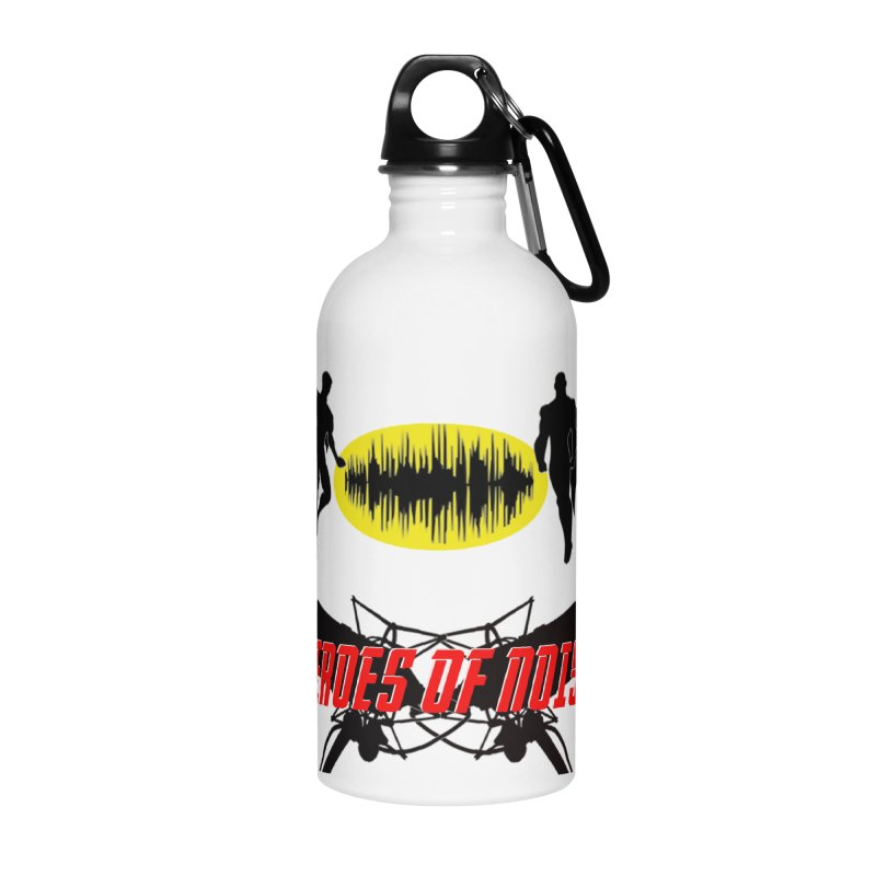 Heroes of Noise Podcast Logo Accessories Water Bottle by Heroes of Noise Artist Shop