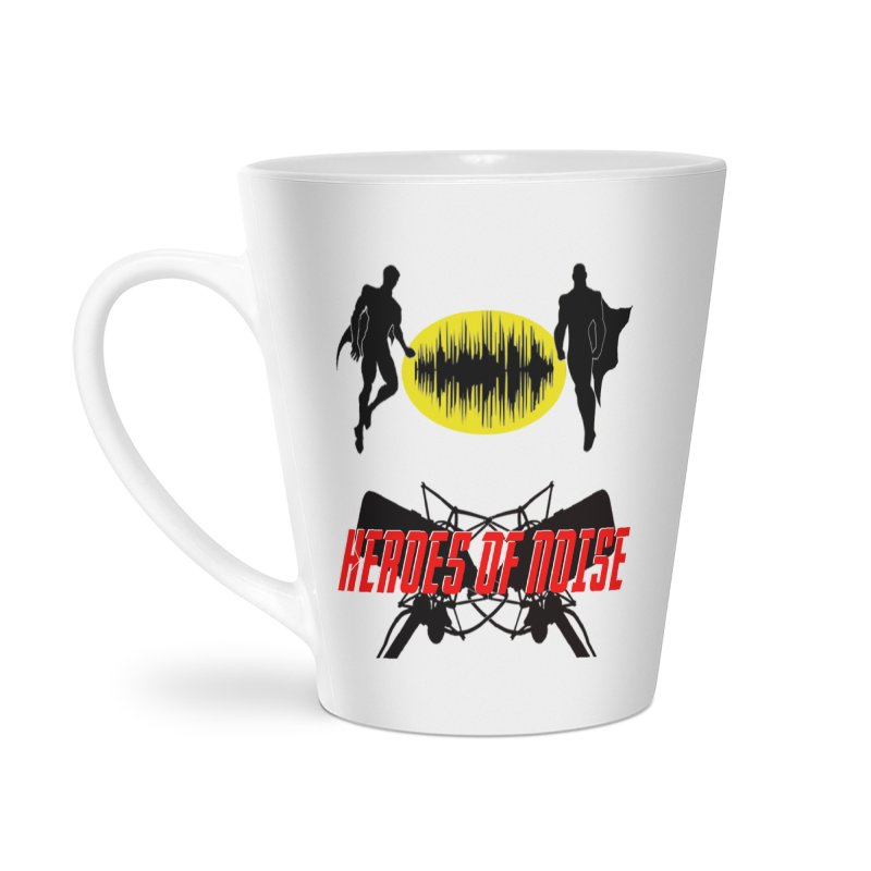 Heroes of Noise Podcast Logo Accessories Latte Mug by Heroes of Noise Artist Shop