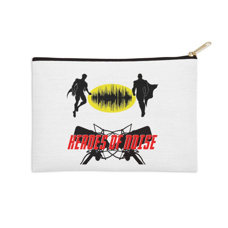Heroes of Noise Podcast Logo Accessories Zip Pouch by Heroes of Noise Artist Shop