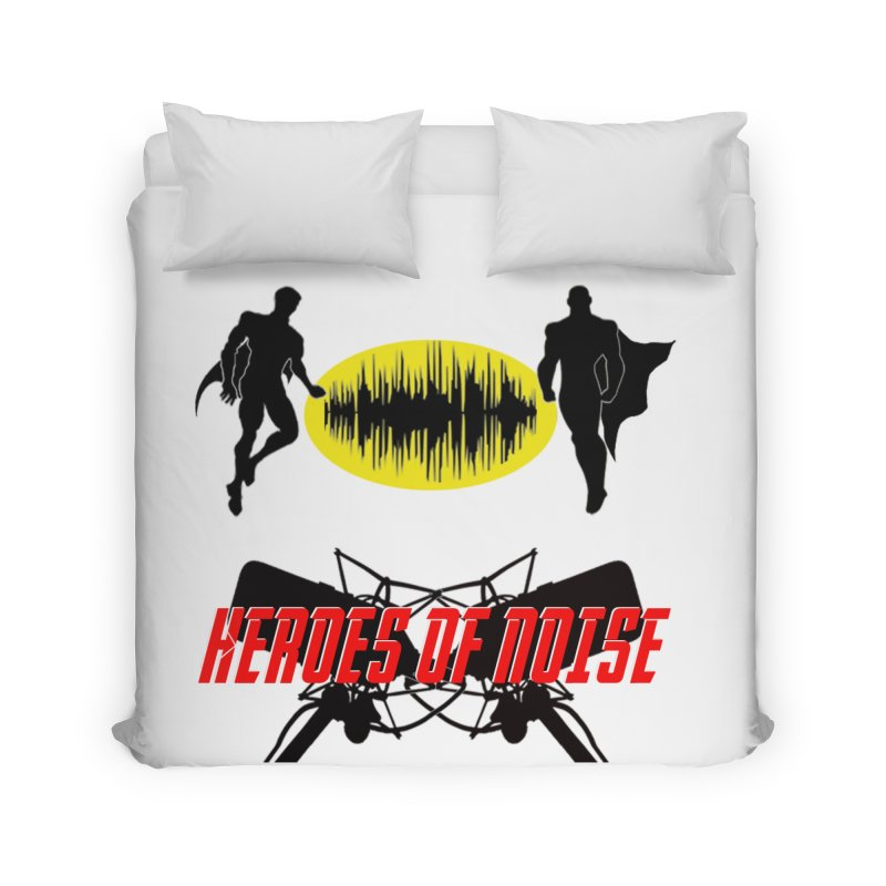 Heroes of Noise Podcast Logo Home Duvet by Heroes of Noise Artist Shop