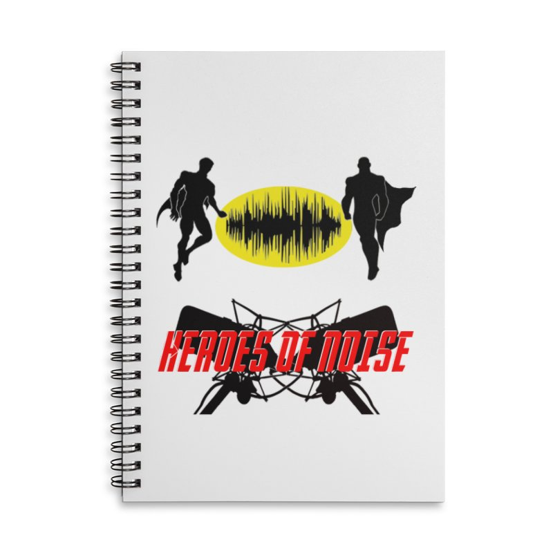 Heroes of Noise Podcast Logo Accessories Lined Spiral Notebook by Heroes of Noise Artist Shop