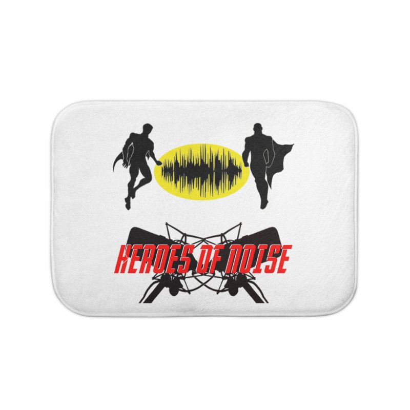 Heroes of Noise Podcast Logo Home Bath Mat by Heroes of Noise Artist Shop
