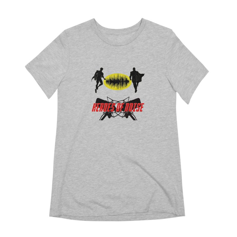 Heroes of Noise Podcast Logo Women's Extra Soft T-Shirt by Heroes of Noise Artist Shop
