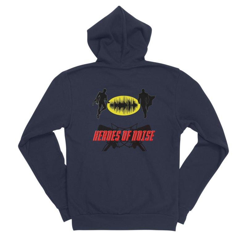 Heroes of Noise Podcast Logo Men's Sponge Fleece Zip-Up Hoody by Heroes of Noise Artist Shop