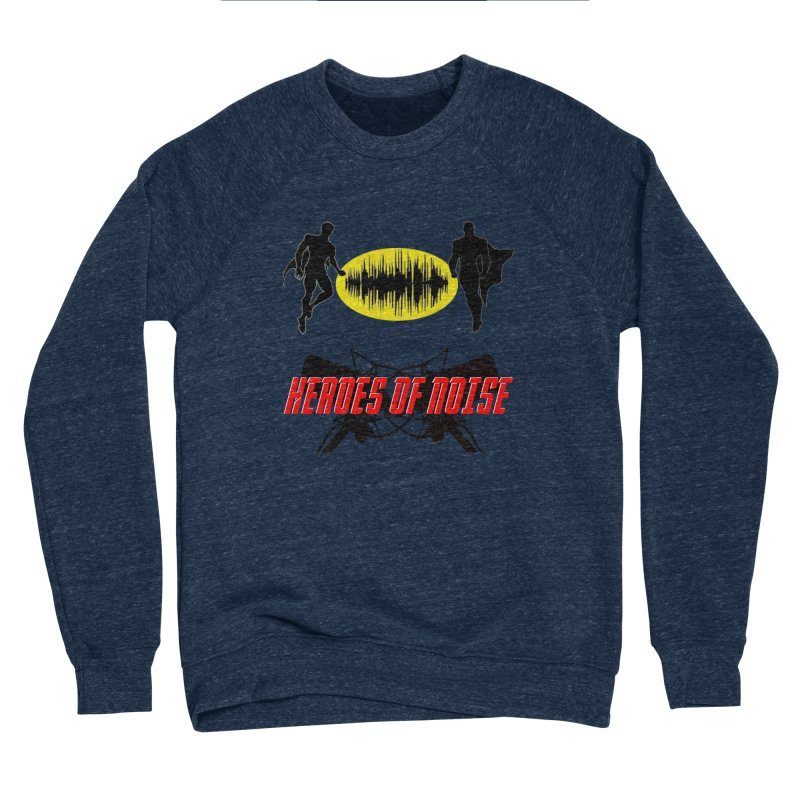 Heroes of Noise Podcast Logo Women's Sponge Fleece Sweatshirt by Heroes of Noise Artist Shop
