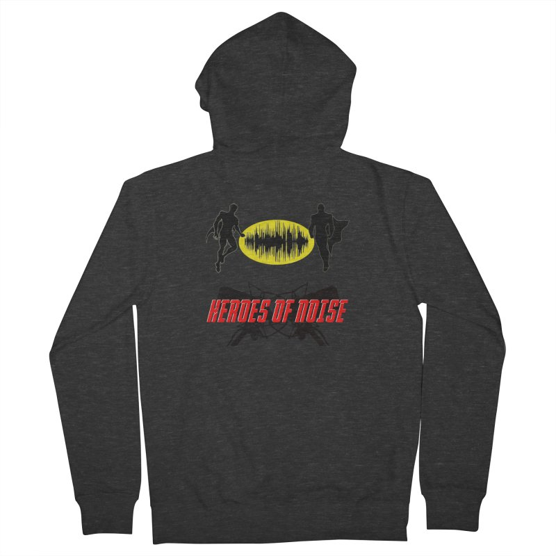 Heroes of Noise Podcast Logo Men's French Terry Zip-Up Hoody by Heroes of Noise Artist Shop