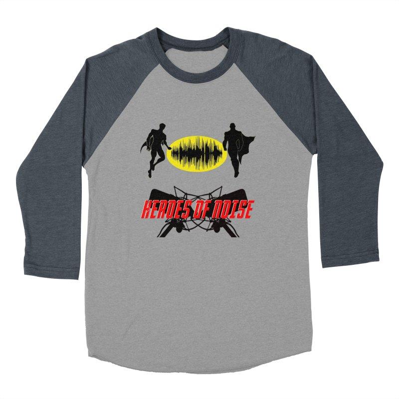 Heroes of Noise Podcast Logo Men's Baseball Triblend Longsleeve T-Shirt by Heroes of Noise Artist Shop