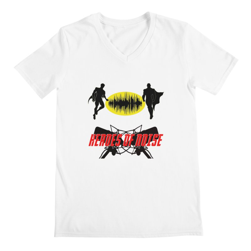 Heroes of Noise Podcast Logo Men's Regular V-Neck by Heroes of Noise Artist Shop