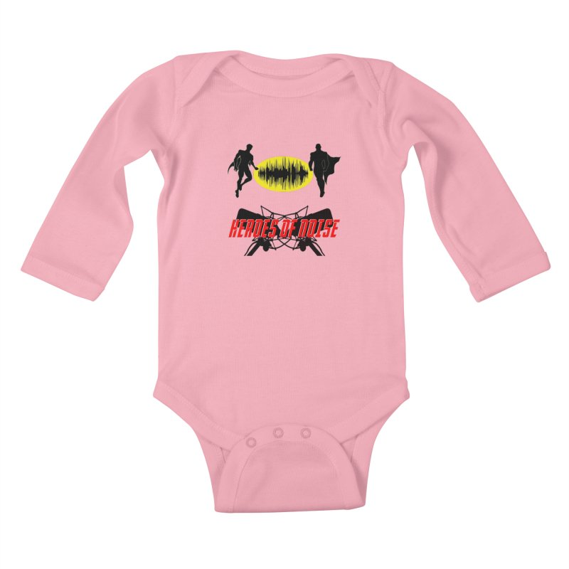 Heroes of Noise Podcast Logo Kids Baby Longsleeve Bodysuit by Heroes of Noise Artist Shop