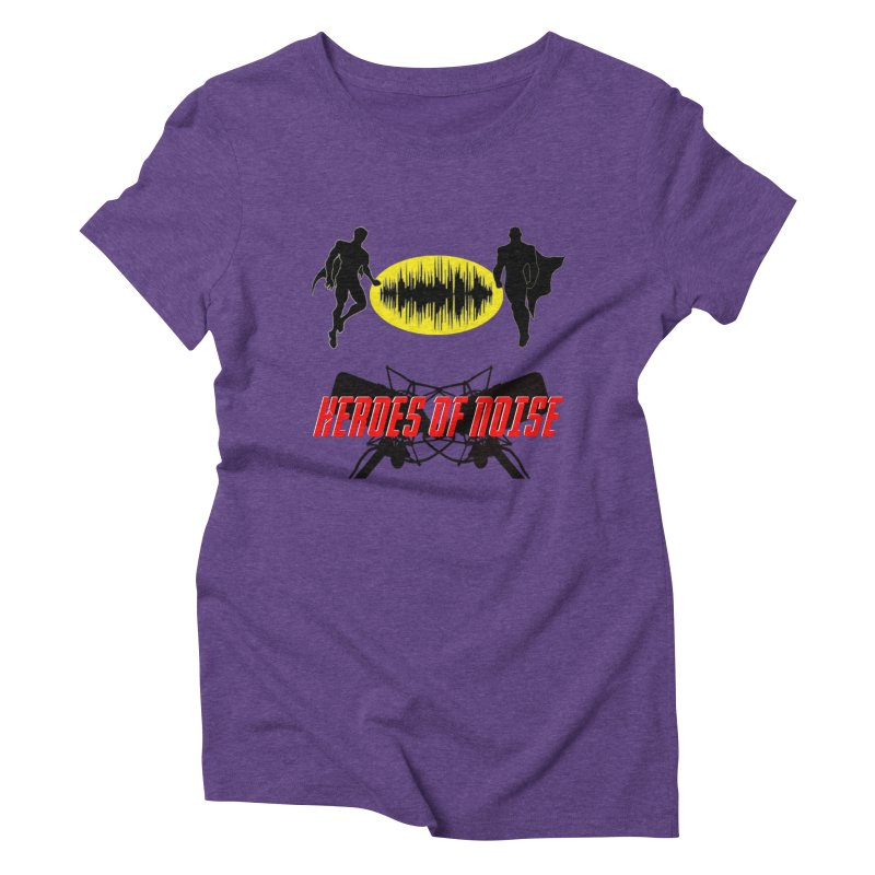 Heroes of Noise Podcast Logo Women's Triblend T-Shirt by Heroes of Noise Artist Shop