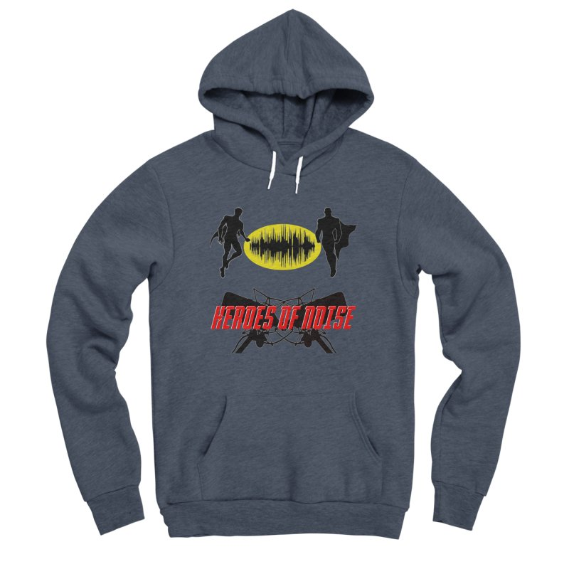 Heroes of Noise Podcast Logo Women's Sponge Fleece Pullover Hoody by Heroes of Noise Artist Shop