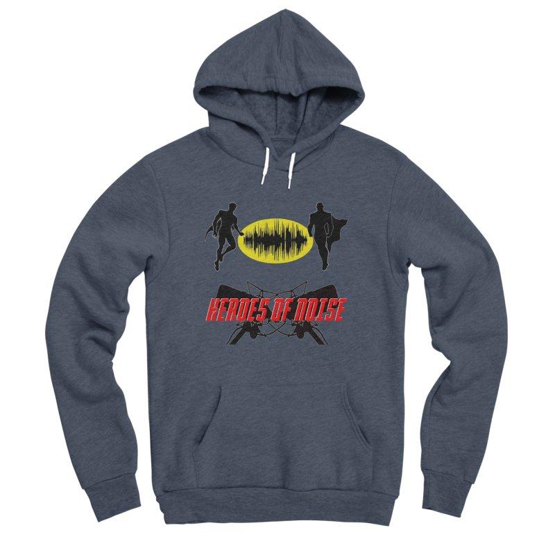 Heroes of Noise Podcast Logo Men's Sponge Fleece Pullover Hoody by Heroes of Noise Artist Shop