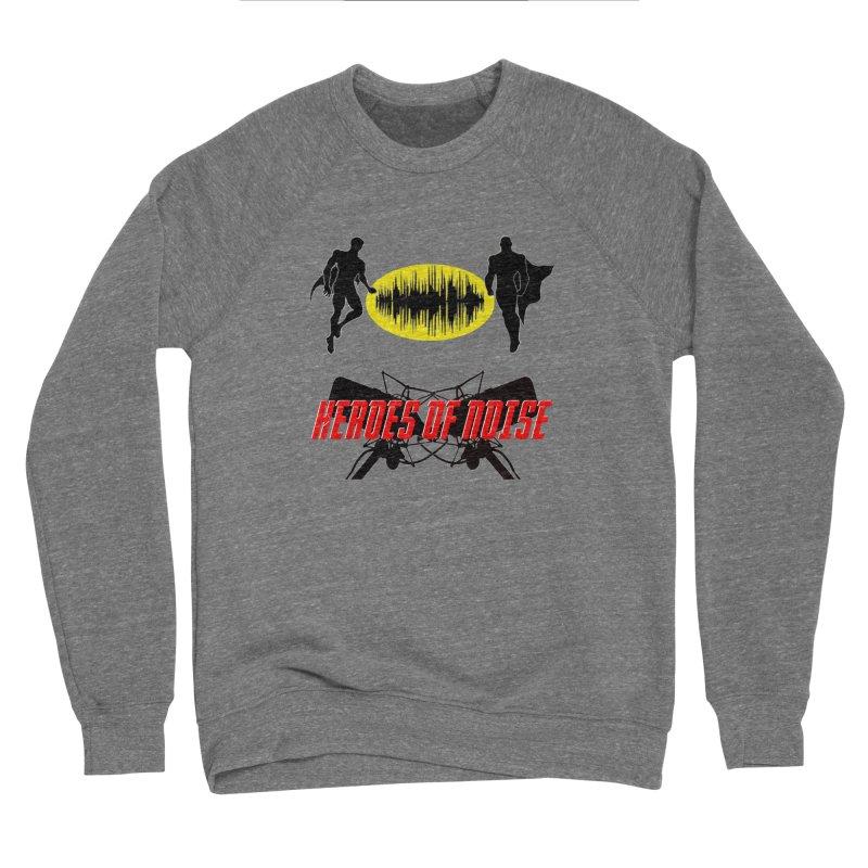 Heroes of Noise Podcast Logo Men's Sponge Fleece Sweatshirt by Heroes of Noise Artist Shop