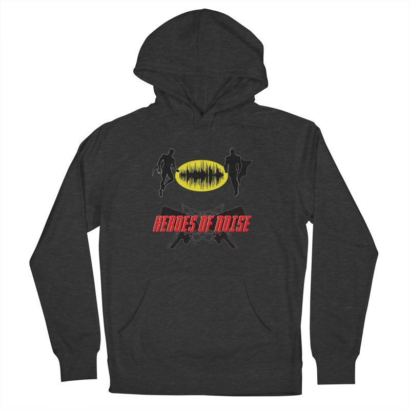 Heroes of Noise Podcast Logo Men's French Terry Pullover Hoody by Heroes of Noise Artist Shop