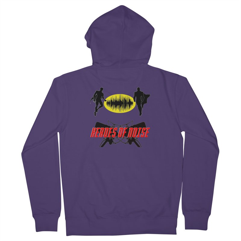 Heroes of Noise Podcast Logo Women's French Terry Zip-Up Hoody by Heroes of Noise Artist Shop