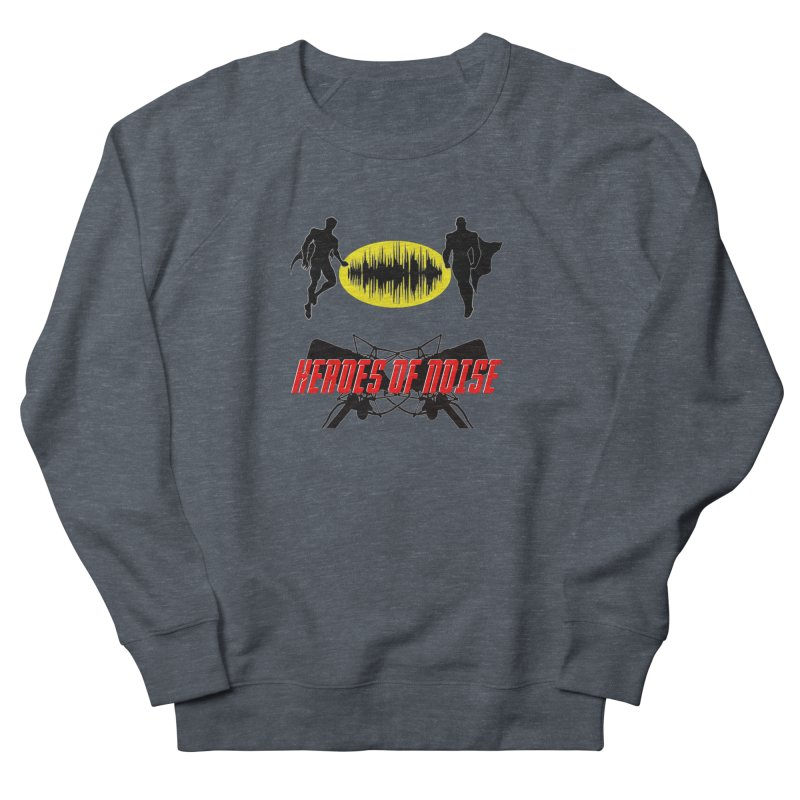 Heroes of Noise Podcast Logo Men's French Terry Sweatshirt by Heroes of Noise Artist Shop