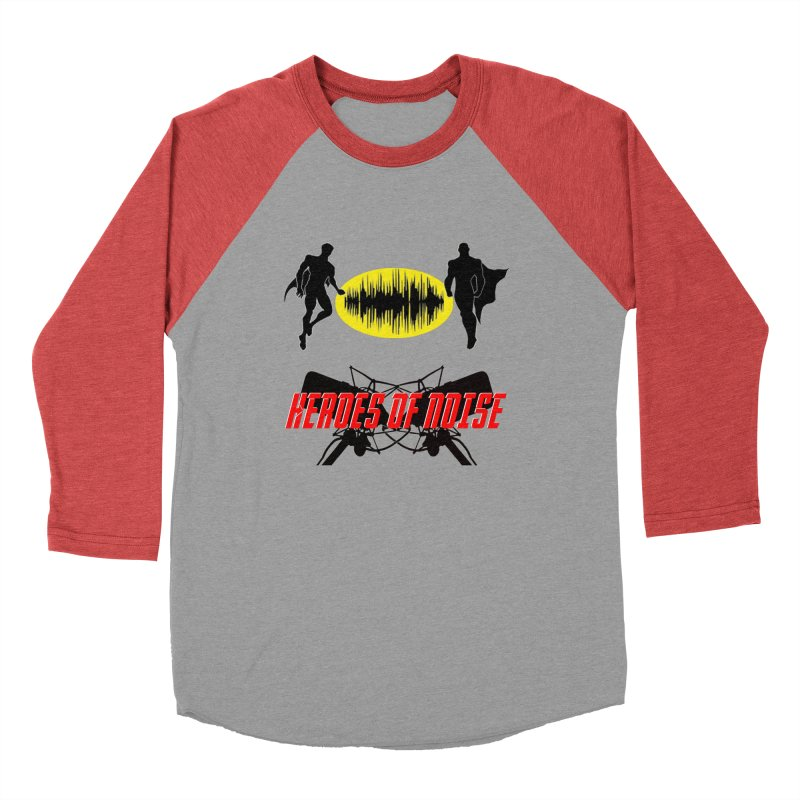 Heroes of Noise Podcast Logo Men's Baseball Triblend Longsleeve T-Shirt by Heroes of Noise Artist Shop