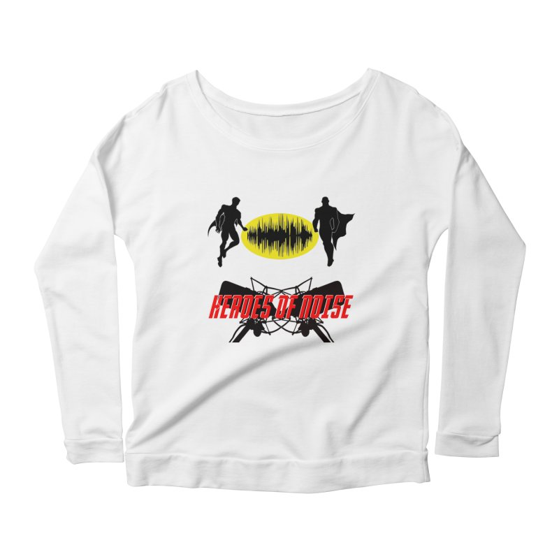 Heroes of Noise Podcast Logo Women's Scoop Neck Longsleeve T-Shirt by Heroes of Noise Artist Shop