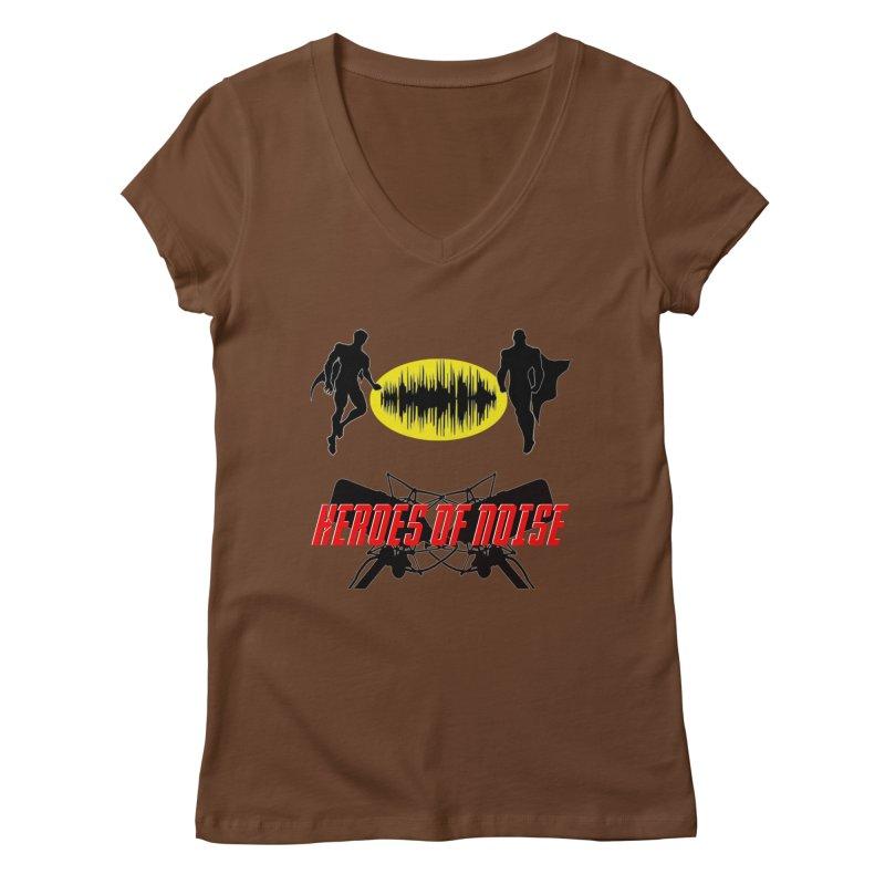 Heroes of Noise Podcast Logo Women's Regular V-Neck by Heroes of Noise Artist Shop