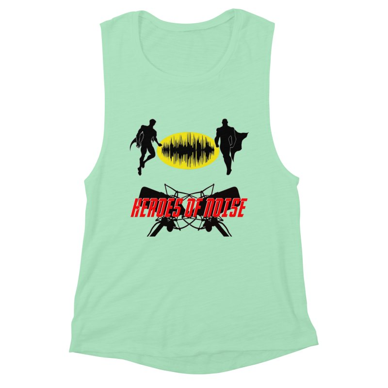 Heroes of Noise Podcast Logo Women's Muscle Tank by Heroes of Noise Artist Shop