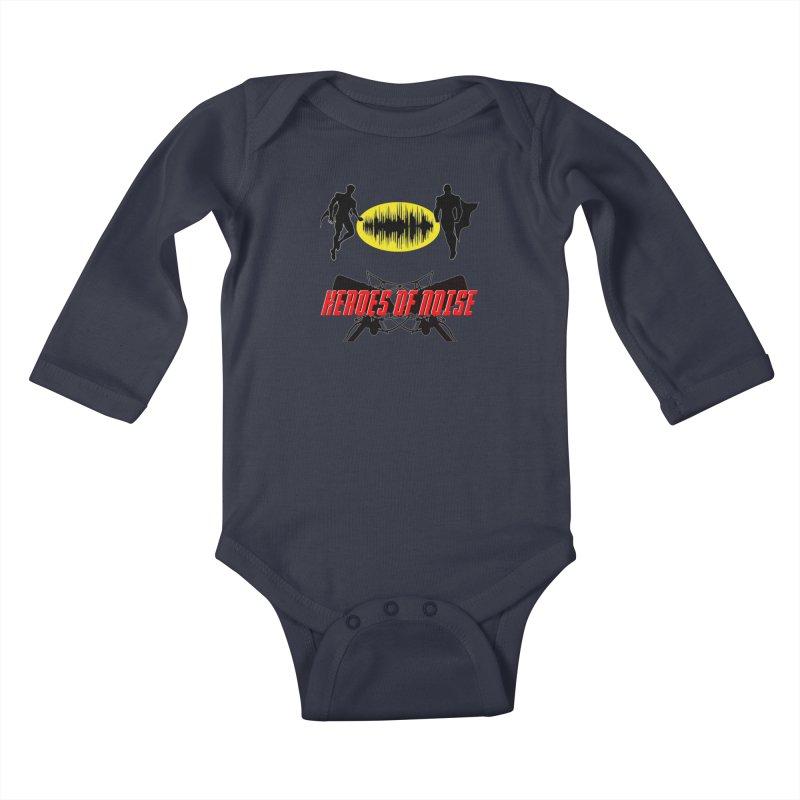 Heroes of Noise Podcast Logo Kids Baby Longsleeve Bodysuit by Heroes of Noise Artist Shop
