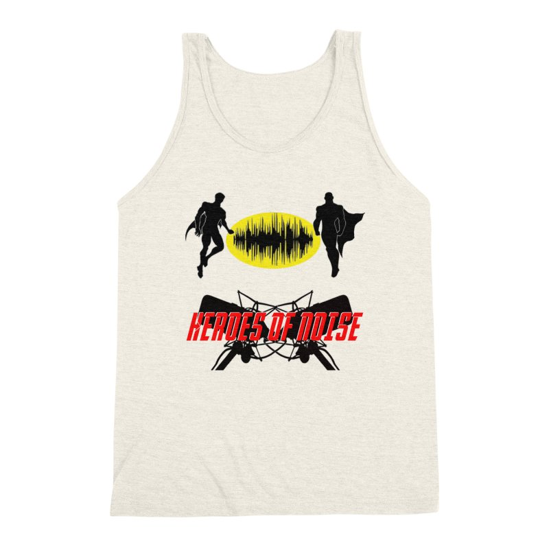 Heroes of Noise Podcast Logo Men's Triblend Tank by Heroes of Noise Artist Shop