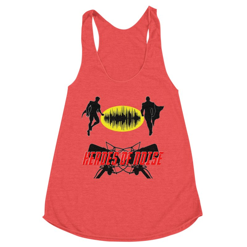 Heroes of Noise Podcast Logo Women's Racerback Triblend Tank by Heroes of Noise Artist Shop