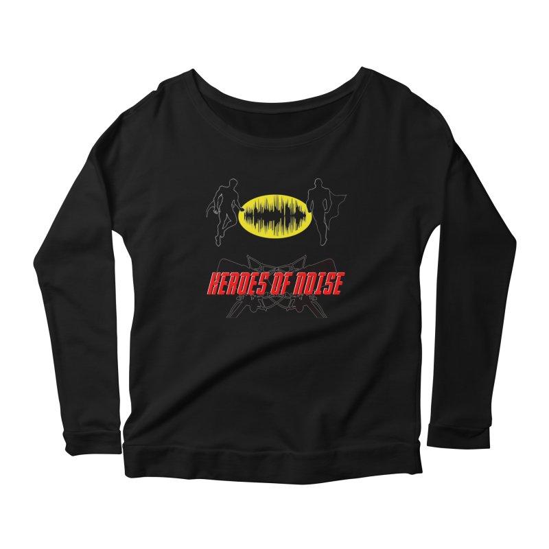 Heroes of Noise Podcast Logo Women's Scoop Neck Longsleeve T-Shirt by Heroes of Noise Artist Shop