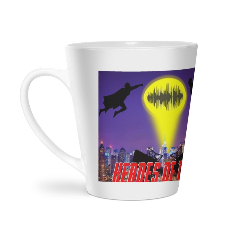 Heroes of Noise Take Flight Accessories Latte Mug by Heroes of Noise Artist Shop