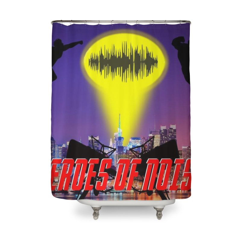 Heroes of Noise Take Flight Home Shower Curtain by Heroes of Noise Artist Shop