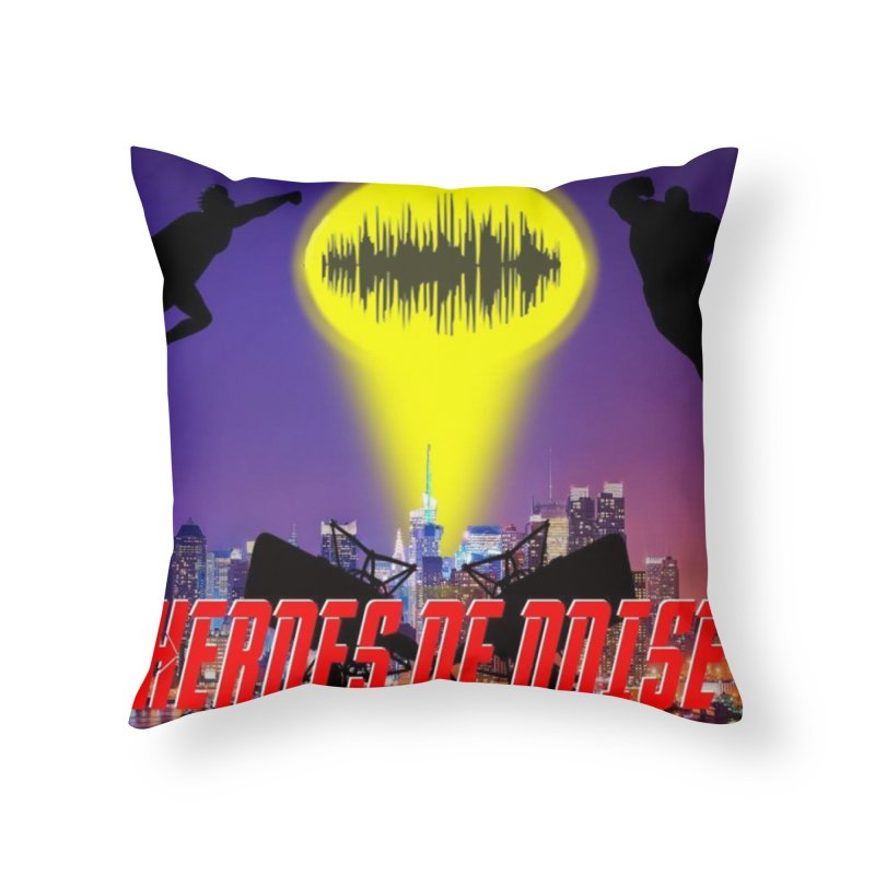 Heroes of Noise Take Flight Home Throw Pillow by Heroes of Noise Artist Shop