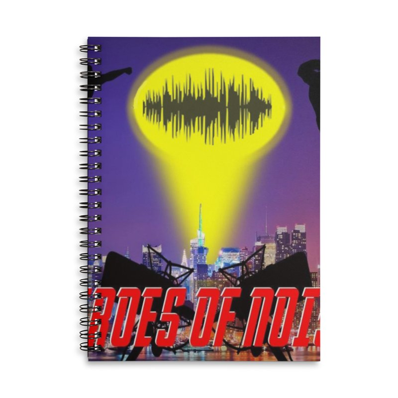 Heroes of Noise Take Flight Accessories Lined Spiral Notebook by Heroes of Noise Artist Shop