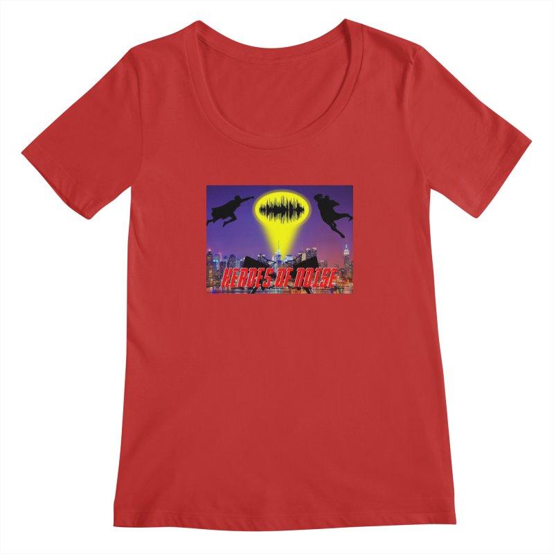 Heroes of Noise Take Flight Women's Regular Scoop Neck by Heroes of Noise Artist Shop