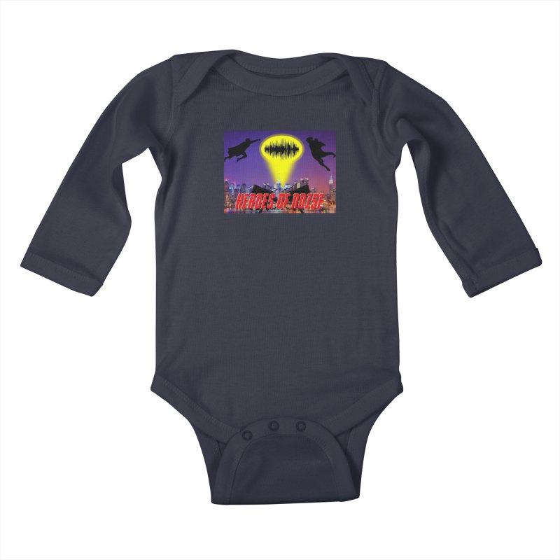 Heroes of Noise Take Flight Kids Baby Longsleeve Bodysuit by Heroes of Noise Artist Shop