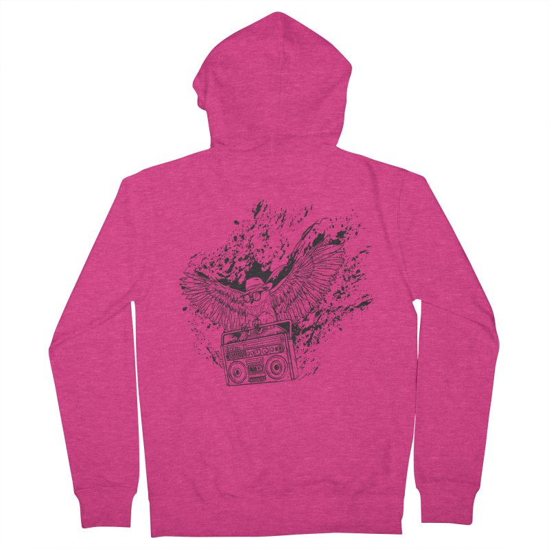 Nightflight Women's French Terry Zip-Up Hoody by Supervoid Artist Shop