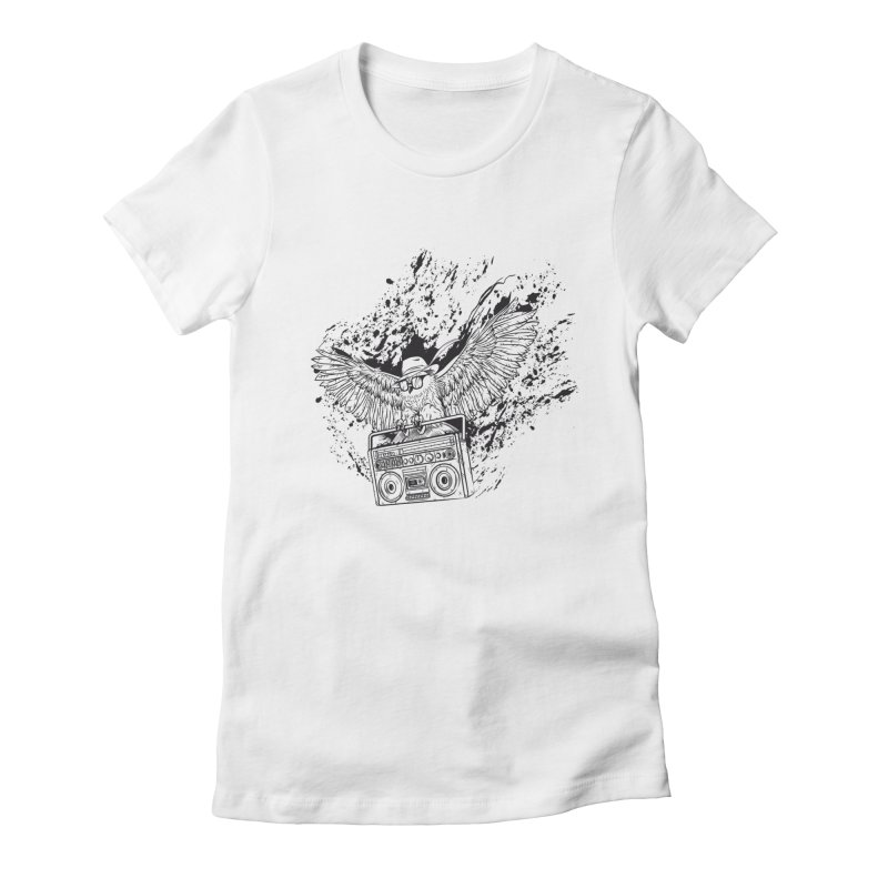 Nightflight Women's Fitted T-Shirt by Supervoid Artist Shop
