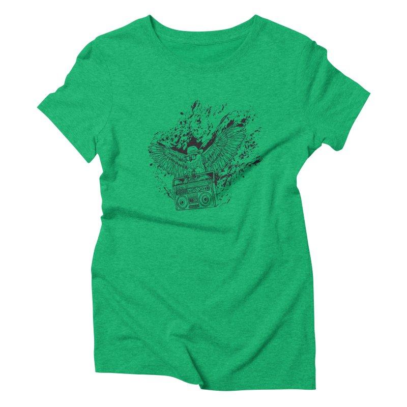 Nightflight Women's Triblend T-Shirt by Supervoid Artist Shop