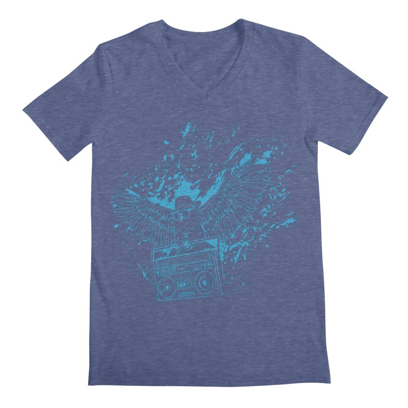 Nightflight Men's Regular V-Neck by Supervoid Artist Shop
