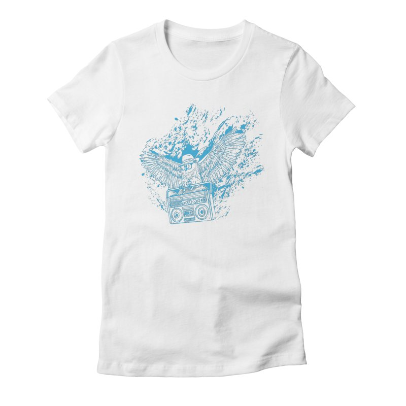 Nightflight Women's Fitted T-Shirt by Supervoid Artist Shop