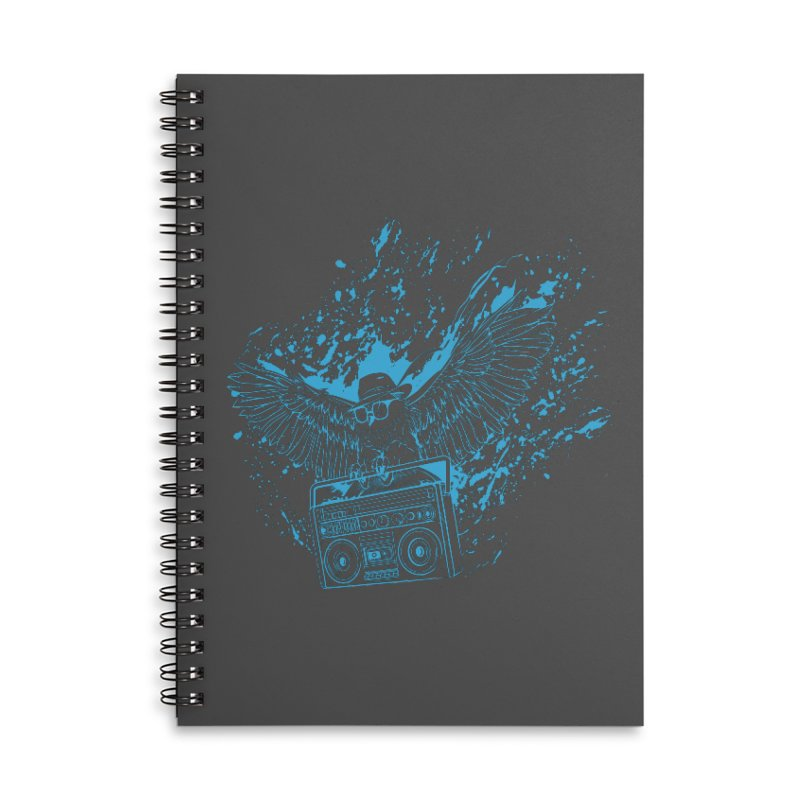 Nightflight Accessories Lined Spiral Notebook by Supervoid Artist Shop