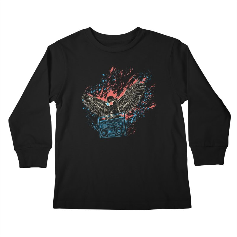 Nightflight Kids Longsleeve T-Shirt by Supervoid Artist Shop