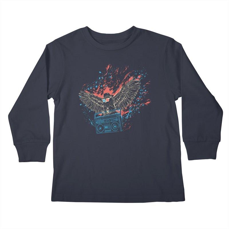 Nightflight Kids Longsleeve T-Shirt by Supervoid Artist Shop